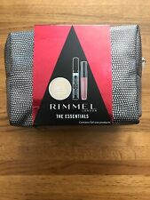 Rimmel Essentials Set - Mascara Pressed Powder & Lip Gloss in Zipped Make Up Bag
