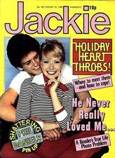 JACKIE MAGAZINE #867 PHIL DANIELS COLOUR PIN UP, BARRY SHEENE, FUN FACTORY