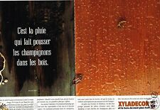Publicité Advertising 1989 (2 pages) Vernis Produits bois Xyladecor