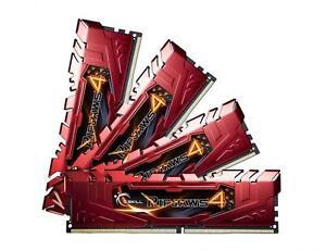 32GB G.Skill Ripjaws 4 DDR4 2400MHz PC4-19200 CL15 Quad Channel kit (4x8GB) Red