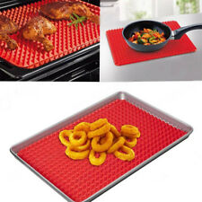 Pyramid Non Stick Silicone Cooking Mat Oven Baking Tray Pan Liner Red