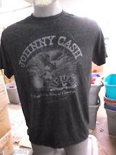 Mens Licensed Johnny Cash Eagle & Guitar Shirt New L