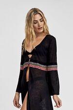Pitusa Inca Cover-up Black Kimono