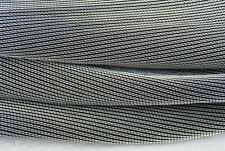 Un único hilo metálico plateado de B80 en un Negro ALGODÓN TEJIDO inversa Hecho en Italia