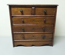 WONDEFUL ANTIQUE SALESMAN'S SAMPLE or CHILD'S MINIATURE 5- DRAWER CHEST
