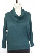 Nwt Bar Iii Womens Long Sleeve Cowl Neck Pullover Sweater Forest Green M $49