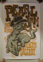 Pearl Jam Poster August 8th 2009 Calgary Alberta