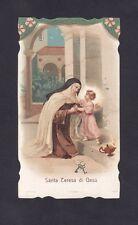 SANTA TERESA DI GESÙ 08 SANTINO HOLY CARD IMMAGINETTA Ed. CUZZERI ROMA primi 900