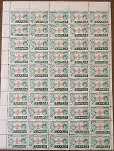 BOY SCOUTS: WORLD JAMBOREE - SCOTT #356 2 FULL PANES (2 x 50 x 5 CENTS)