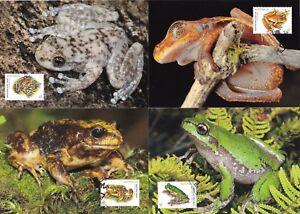 Australia 2018 Frogs Set of 4 Maximum Cards