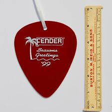 Fender Giant Guitar Pick DEALER Ornament 1999 California Clear - Candy Apple Red