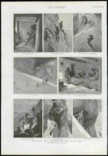 1889 Antique Print - SWITZERLAND HIGH ALPS MOUNTAIN CLIMBING OBER GABELHORN(132)