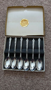 SET OF APOSTLE SPOONS IN DISPLAY BOX – CHROME PLATE SHEFFIELD