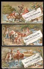 1880s HARTFORD CT CROCKERY & HOUSE GOODS, 3 MATCHING TRADE CARDS FREE SHIP TC402