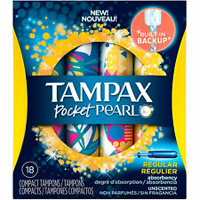 Tampax Pocket Pearl Reg Unscented 18ct