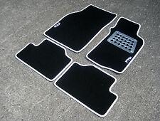 Tapis De Sol Voiture noir/Blanc pour Mitsubishi FTO 94-00/RHD + Aluminium Plaque