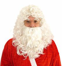 CHRISTMAS SANTA CURLY WIG BEARD EYEBROWS KIT XMAS FANCY DRESS COSTUME ACCESSORY