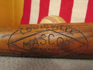 "Vintage Louisville Mascot Wood Baseball Bat Hilton Collins Co.34"" Home Run Spot"