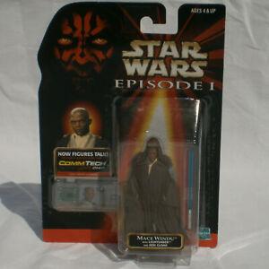 Star Wars Episode 1 TPM Mace Windu Jedi Cloak Figure