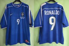 Maillot Bresil Nike Ronaldo #9 Brasil 1998 Away Oldschool Jersey Vintage - L