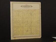 Michigan Shiawassee County Map Hazelton Township 1895 !J8#96