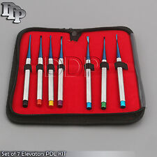 Set Of 7 Elevators Pdl Precise Tips Dental Surgical Veterinary Instruments
