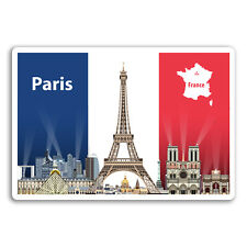 2 x 10cm Paris France Vinyl Stickers - Flag Travel Sticker Laptop Luggage #17968