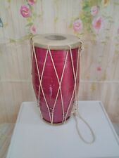 More details for dholak drum  indian two- headed hand metallic purplely pink  drum