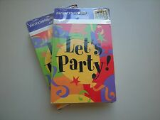 "2 Packs 8/Pack Hallmark ""Let's Party"" Invitations"