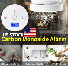 US Carbon Monoxide Poisoning Gas LCD Digital Warning Alarm Sensor Detector Temp