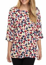 AK Anne Klein Womens Collection Floral Printed Oversized Blouse MSRP: $69.00