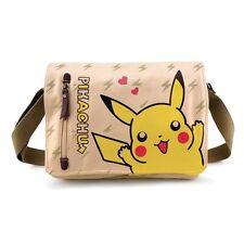 Pikachu Canvas Shoulder Messenger Bag Anime School Gym bag