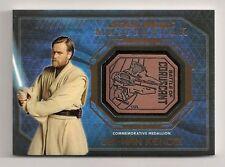 2016 Star Wars Masterworks Medallion Bronze Obi Wan Kenobi Battle Of Coruscant