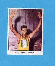 CAMPIONI DELLO SPORT 1966/67-PANINI-Figurina n.42- ABEBE BIKILA -Recuperata
