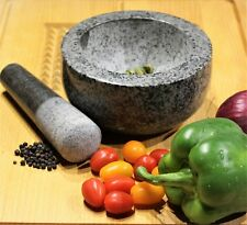 LARGE  GRANITE PESTLE AND MORTAR SPICE HERB CRUSHER GRINDER GRINDING PASTE