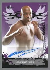 Autograph Anderson Silva Mixed Martial Arts Cards