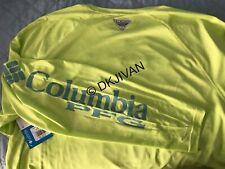 Columbia Pfg Terminal Tackle Longsleeve Key Lime Swimming Fishing Shirt 2Xt Tall