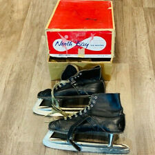 Ice Skates vintage figure hockey North Bay vtg original box Torrington hardware