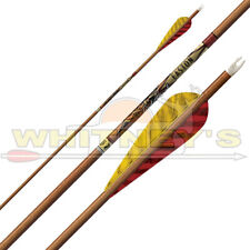 """Easton Archery Traditional Axis Arrows 340 5"""" Feathers Carbon 10.3 GPI -6 PK"""