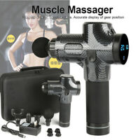 Percussion Massage Gun Massager Muscle Vibration Relaxing Therapy Deep Tissue SN