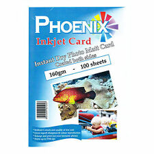 PHOENIX INSTANT DRY PHOTO MATT / MATTE CARD - DOUBLE SIDED - 160GSM - 100 SHEETS