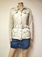 Barbour Cream Quilted Lightweight Jacket UK 10