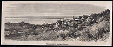 1866  --  GUYANE  PENITENCIER DE LA MONTAGNE D ARGENT  bagne cayenne  3M397