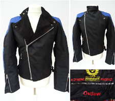 Men's BELSTAFF Vintage 'OUTLAW' Blue/Black BIKER JACKET Size 36 SMALL #2579