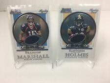 2006 Bowman Sterling Rookie Jersey Lot of 2 Santonio Holmes Brandon Marshall