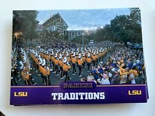 FOOTBALL TRADITIONS Lot x15 2015 Panini Collegiate Multi-Sport LSU Tigers #10