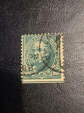 US Sc# 273 1895 10c Senator Webster Green Used Great Find - # 1483