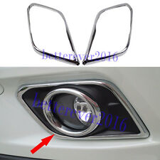 Chrome Front Fog Light Lamp Cover Trims Fit Nissan X-Trail Rogue 2014 2015 2016