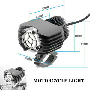 10-80V 20W 1.7A Motorcycle LED Auxiliary Light Motorcycle Spotlight Aluminum Kit