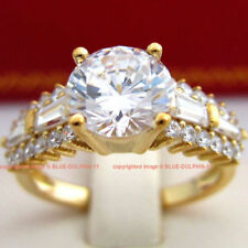 Diamond Band Yellow Gold Not Enhanced Fine Rings